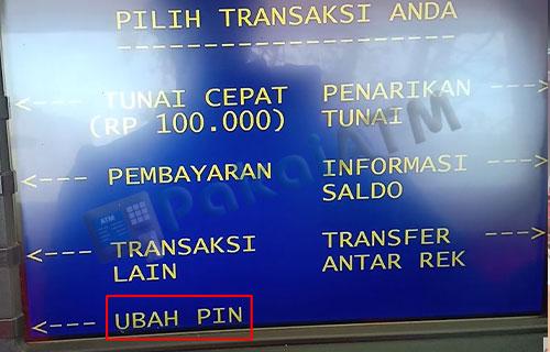 5. Pilih Ubah PIN