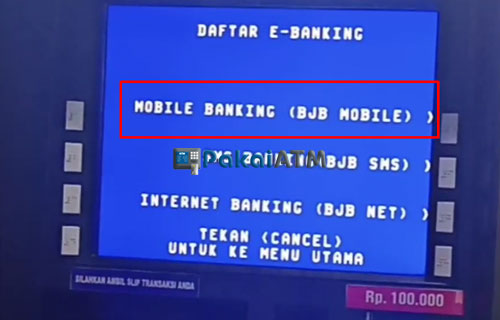6. Pilih Mobile Banking BJB Mobile