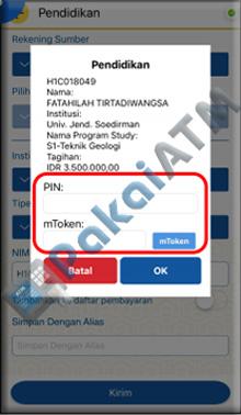 6. masukanlah PIN Mobile Banking BTN