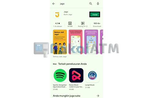 Install Aplikasi Jago