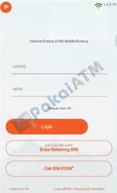 1. Buka Login BNI Mobile