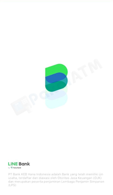 1. Buka Masuk Aplikasi LINE Bank