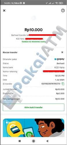 10. Top Up Line Bank via GoPay Selesai