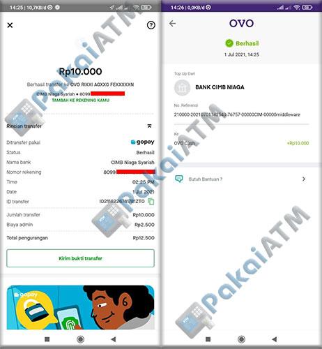 10. Transfer GoPay ke OVO Berhasil