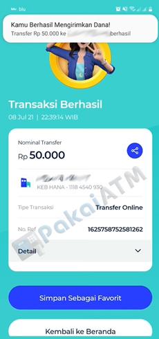 10. Transfer ke Bank Lain Berhasil