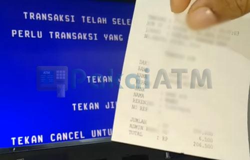 10. Transfer ke Rekening Bank Jago Berhasil