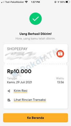 12. Cara Top Up ShopeePay Lewat Bank Jago Berhasil