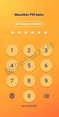 2. Masukan Password Guna Login