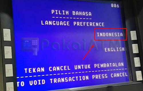 2. Pilih Bahasa Indonesia atau Inggris