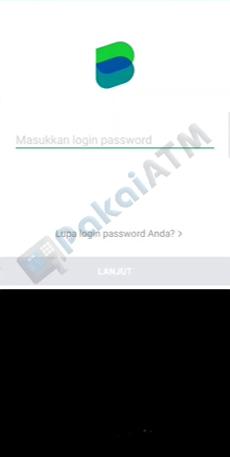 2. Silakan Login dengan Input Password