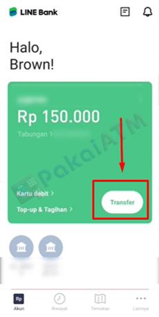 3. Klik Menu Transfer