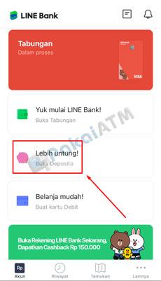 3. Pilih Buka Deposito