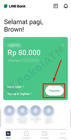 3. Pilih Menu Transfer