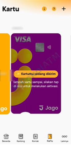 4. Pilih Kartu Debit Fisik