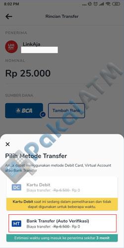 6. Pilih Metode Transfer