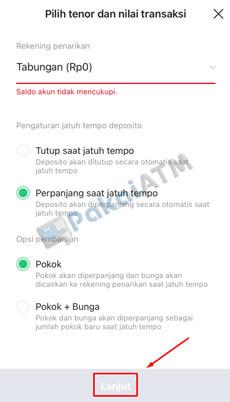 8. Atur Jatuh Tempo Deposito