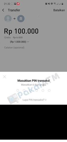 8. Input PIN Transaksi