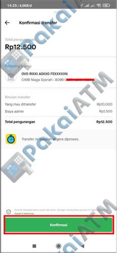 8. Konfirmasi Transfer GoPay
