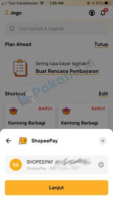 8. Tertera Nama Akun ShopeePay