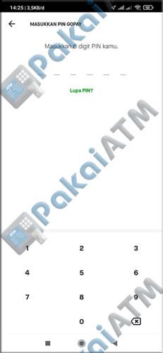 9. Input PIN GoPay