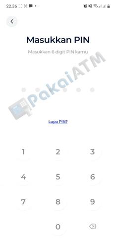 9. Input PIN Transaksi 1