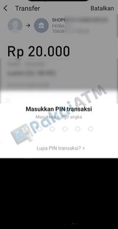 9. Masukkan 6 Digit PIN Transaksi