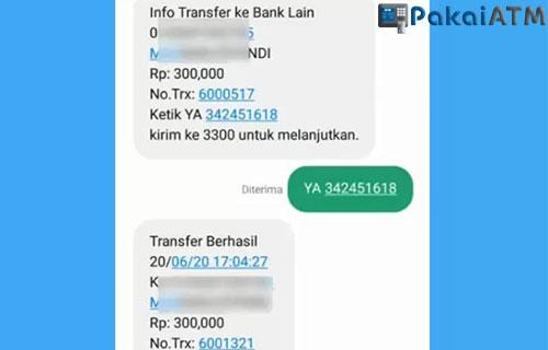Biaya Transfer Lewat SMS Banking BRI