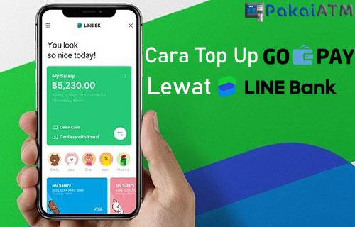 Cara Top Up GoPay Lewat LINE Bank