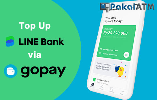 Cara Top Up LINE Bank vi GoPay