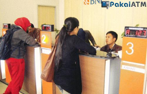 Transfer Melalui Teller Bank BNI