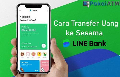 Transfer Uang di LINE Bank ke Sesama
