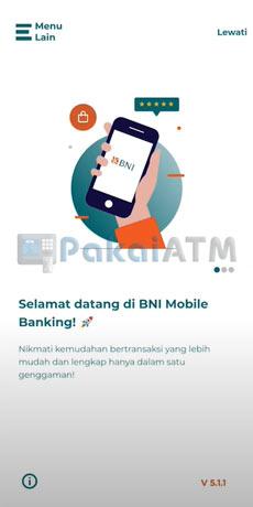1. Buka Aplikasi BNI Mobile