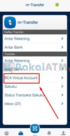 10. Pilih BCA Virtual Account
