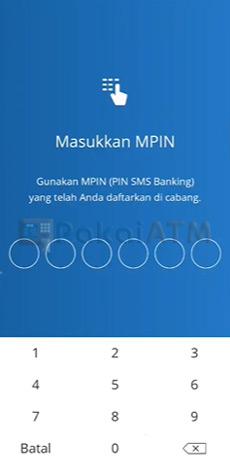 14. Masukkan PIN Livin by Mandiri