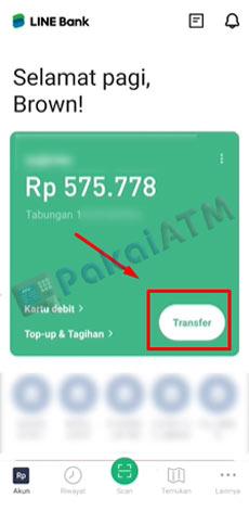 3. Klik Transfer