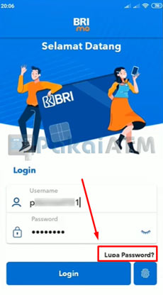 3. Tap Lupa Password