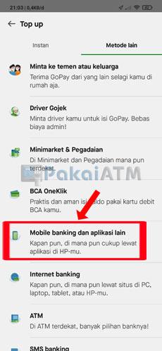 4. Pilih Mobile Banking dan Aplikasi Lain