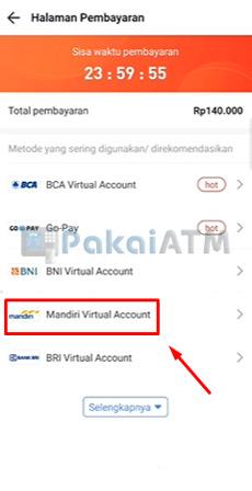 5. Pilih Mandiri Virtual Account