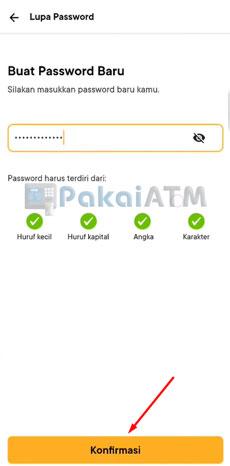 6. Buat Password Baru
