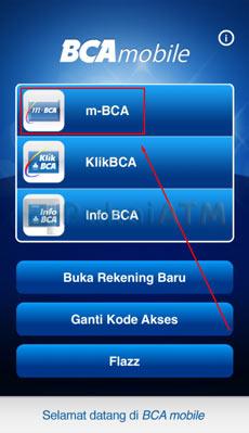 6. Pilih m BCA