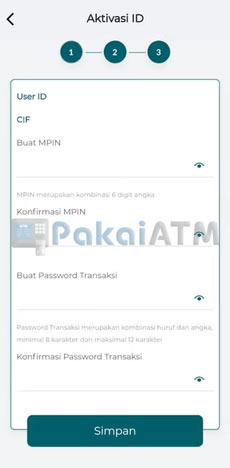 8. Buat MPIN Password