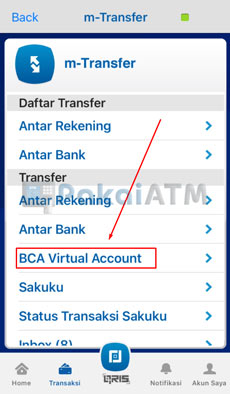 9. Tap BCA Virtual Account
