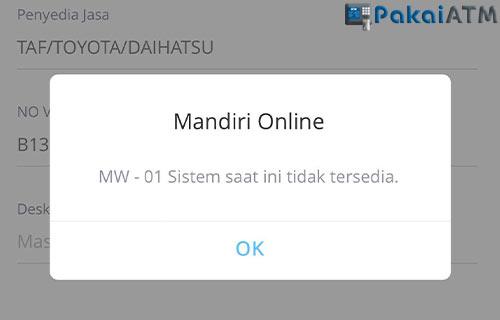 Arti Kode MW 01 Mandiri Online