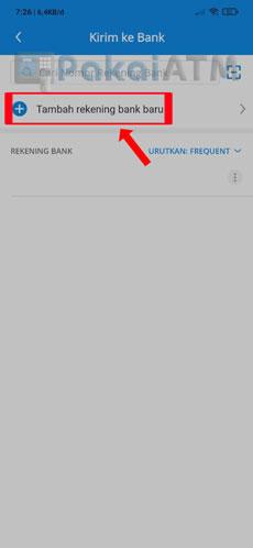 11. Klik Tambah Rekening Bank Baru