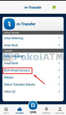 11. Pilih BCA Virtual Account