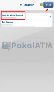 12. Input Nomor Virtual Account