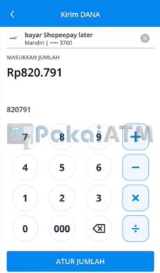 13. Masukkan Nominal Tagihan Shopee PayLater