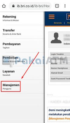 4. Pilih Manajemen Pengguna