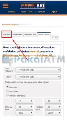 5. Klik Ubah User ID