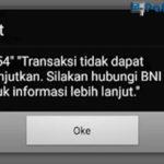 BNI Mobile Error 2754